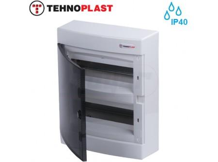 Falon kívüli kiselosztó doboz, C sorozat, 24modulos,átlátszó ajtó-2soros,287x361x112mm,IP40  THP-N24C