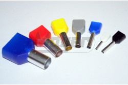 Érvéghüvely iker szigetelt 2x1,5mm Elematic Fekete 11031013  11031013