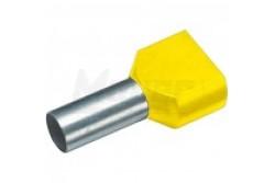 Érvéghüvely iker szigetelt 2x6mm Elematic 11031022  11031022