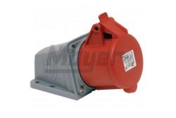 4X16A - Felületre rögzíthető dugalj (rugós - gyors bekötésű) (IP44)  3022-307-1600  Gyorsbekötésű ipari csatlakozó család, Kéziszerszám nélkül szerelhető!