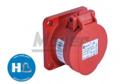 4X16A - Beépíthető dugalj (rugós - gyors bekötésű) IP44 75x75 egyenes  3022-322-1675