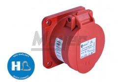 4X32A - Beépíthető dugalj (rugós - gyors bekötésű) IP44 75x75 egyenes  3026-322-1675