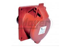 5X16A - Beépíthető dugalj (ferde) -83x90 alap (IP44)  3105-309-1600  - Ipari beépíthető dugalj - IP44 - 5P, 16A - DAFB-164