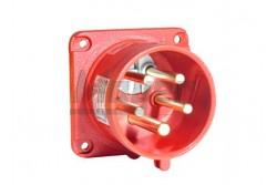 5x16A fázisváltó dugvilla beépíthető egyenes (IP44) 75x75mm   3105-354-1600