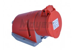5x32A - Felületre rögzíthető dugalj- 83x90 alap (IP44)  3107-307-1600  - Ipari felületre építhető dugalj - IP44 - 5P, 32A - DAFR-324