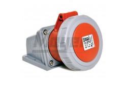 5x32A - Felületre rögzíthető dugalj- 83x90 alap (IP67)  3108-307-1600  - Ipari felületre építhető dugalj - IP67 - 5P, 32A - DAFR-324