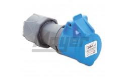 3x16A - Dugalj (IP44)  3120-304-0900  - Ipari lengő dugalj - IP44 - 3P, 16A - DAFH-162