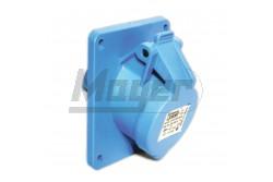 3X16A - Beépíthető dugalj (ferde) -83x90 alap (IP44)  3120-309-0900  - Ipari beépíthető dugalj - IP44 - 3P, 16A - DAFB-162