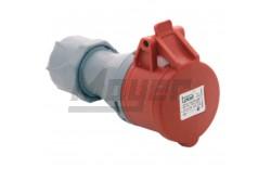 4x16A - Dugalj (IP44)  3122-304-1600  - Ipari lengő dugalj - IP44 - 4P, 16A - DAFH-163