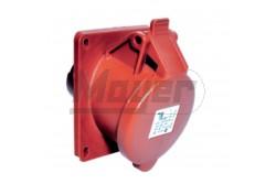 4X16A - Beépíthető dugalj (ferde) -83x90 alap (IP44)  3122-309-1600  - Ipari beépíthető dugalj - IP44 - 4P. 16A - DAFB-163