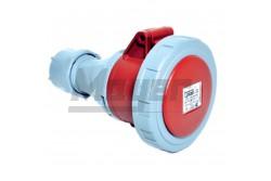 4x16A - Dugalj (IP67)  3123-304-1600  - Ipari lengő dugalj - IP67 - 4P, 16A - DAFH-163