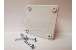 Vakfedél 75x75 mm szerelt dobozokhoz 1x16A 4 db csavarral  3197-600-0600