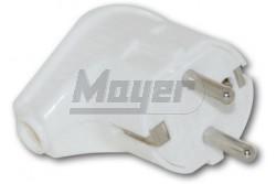 Dugvilla műanyag fehér TPlast(100db/doboz, 4db/cs)  3280-350-0400  - Műanyag dugvilla - 2P+F - 1x16A