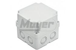 Kötődoboz 110x110x140 IP67 8 kikönnyítés magasított teli tetővel  3310-223-0600  - Perforált oldalfalú - Magasított teli tetővel - IP67 - Mérete: 110x110x140