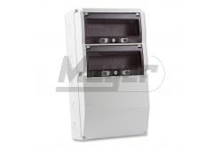 Ipari doboz üres 300x540mm IP67 2x13modul  3321-000-0000  - Üres ipari doboz - Mérete: 300x540mm - IP67 - Modul szám: 2x13