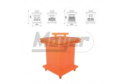Energia zsámoly - üres, narancssárga mobilbox, 420x420x600mm  3332-000-2300