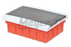 Lakáselosztó doboz - süllyesztett -12+1 modul -190x260-kikönnyítésekkel  3340-265-0400  - Lakáselosztó - Sülyesztett - Modul szám: 12+1 - IP42 - PE+N sín - Átlátszó ajtó