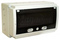 Ipari doboz üres 180x300mm, 13 modul, ajtóval IP66/IP54  3340-272-0600  - Üres ipari doboz - Mérete: 180x300mm - Modul száma: 13