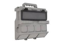 Ipari üres doboz 280x260 Hordozható ipari doboz szerelt (2db kicsi 1db  nagy vakfedéllel)  3370-000-0000