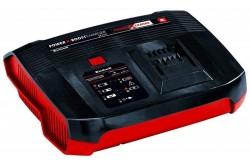 Einhell Akkumulátor töltő 18V Boost-Charger P-X-C Plus  4512064  Einhell Akkumulátor töltő 18V Boost-Charger P-X-C Plus Jelentősen rövidebb töltési idő a külön bekapcsolható gyorstöltés üzemmódban Hosszabb élettartam az alkalmazkodó töltés révén Nagyfokú biztonság az intelligens töltésfelügyeletnek köszönhetően Folyamatos akkumulátor felügyelet az optimális töltési folyamat biztosítása érdekében Hatfokozatú töltő, amelyről bármikor leolvashatja az akkumulátor aktuális töltöttségi szintjét Felhasználóbarát falra szerelhető megoldás az integrált akasztószemnek köszönhetően Univerzálisan használható a Power X-Change termékcsalád valamennyi készülékéhez Termékleírás Az Einhell Power X-Boostcharger 6 a PXC töltőkészülékével még gyorsabban feltöltheti a PXC sorozat akkumulátorait. Egyetlen akkumulátor valamennyi termékhez: a Power-X-Change akkumulátorokat az Einhell termékcsalád összes nagy teljesítményű kerti gépéhez és szerszámgépéhez használhatja. Mivel a külön bekapcsolható gyorstöltő üzemmód jelentősen lerövidíti a töltési időt, ezért a Power X-Change készülékeket és szerszámgépeket pillanatok alatt újra hadrendbe tudja állítani, és így még hamarabb rendelkezésre áll majd az üzemeltetéshez szükséges erő és teljesítmény. Az alkalmazkodó töltésnek köszönhetően megnő az akkumulátorok élettartama. Az intelligens töltésfelügyelet még tovább növeli a biztonságot, mivel folyamatosan ellenőrzi, hogy a töltési folyamat optimális-e. A hatfokozatú töltőről bármikor leolvashatja az akkumulátor aktuális töltöttségi szintjét. A töltőkészüléket - a beépített akasztószemnél fogva - akár a falra is felakaszthatja. A Power X-Boostcharger 6 a töltőkészülékkel valamennyi Power X-Change akkumulátort feltöltheti. Műszaki adatok Elektromos hálózat: 220-240 V   50-60 Hz Kimeneti feszültség: 18 V Kimeneti áramerősség: 6000 mA Termék súlya: 0.83 kg