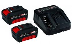 Einhell Akkumulátor töltő 18V Twin-Charger P-X-C   4512069  Einhell Akkumulátor töltő 18V Twin-Charger P-X-C  Párhuzamos akkumulátor töltés: 2 x 18 V Hosszabb akku élettartam, a különféle töltési ciklusoknak köszönhetően Maximális biztonság, az intelligens töltéskezelőnek köszönhetően. Aktuális információk az akku-állapotról, 6-fokozatú töltés rendszer Felhasználóbarát fali felszerelés, integrált akasztógyűrűkkel Univerzálisan használható minden Power X-Change típusú akkumulátorhoz. Műszaki adatok  Akkumulátor kapacitás 2 x 3.0 Ah Elektromos hálózat 220-240 V I 50-60 Hz Töltési feszültség 2 x 18 V Áramerősség 1,5 - 5,2 Ah-ig Töltési idő 30 -120 perc, akku kapacitástól függően