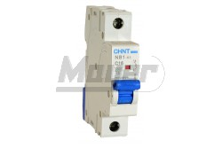 Chint kismegszakító 6kA (NB1-63) 1P, B, 10A  CH-971281  - Pólus: 1P - Kategória: B - Névleges áram: 10A - Zárlati védelem: 6kA - Modul szám: 1