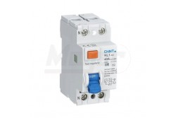 Chint Fi-relé 2P 40A 30mA AC  CH-972177  NL1-63/2P/40A/30mA/AC típus - Pólus: 2P - Terhelhető áram: 40A - Érzékenység: 30mA (0,03A) - Kategória: AC - Zárlati védelem: 6kA - Modul szám: 2