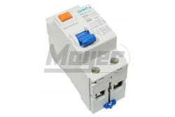 Chint Fi-relé 2P 40A 100mA AC  CH-972178  NL1-63/2P/40A/100mA/AC típus - Pólus: 2P - Terhelhető áram: 40A - Érzékenység: 100mA (0,1A) - Kategória: AC - Zárlati védelem: 6kA - Modul szám: 2