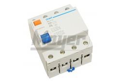 Chint Fi-relé 4P 25A 30mA AC  CH-972192  NL1-63/4P/25A/30mA/AC típus - Pólus: 4P - Terhelhető áram: 25A - Érzékenység: 30mA (0,03A) - Kategória: AC - Zárlati védelem: 6kA - Modul szám: 4