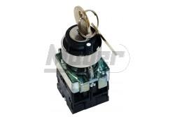 Chint kulcsos kapcsoló 2-állás 1NO+1NC visszaálló NP2-BG45  CH-NP2-BG45  - Kulcsos kapcsoló - 2 Fix pozíció ON-OF - Visszatérő - Furat: 22mm - Érintkezők: NC+NO