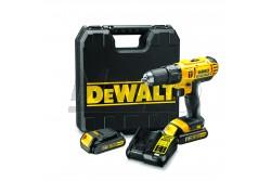 DeWALT Akkus, 18.0V Compact , ütvefúró-csavarozó, 2db 1,3 Ah Li-Ion akku, koffer, 13mm  60Nm  DCD776C2-QW