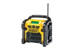 DeWALT 10.8-18V FM/AM Compact XR rádió, hálózati/akku (akku nélkül szállitva)  DCR019-QW  Robusztus FM/AM munkahelyi rádió.Használható a 10.8V, 14.4V és 18V-os XR Li-Ion akkumulátorokkal. A 3,5 mm-es kiegészítő port lehetővé teszi a csatlakozást hordozható audioeszközökkel. Ütésálló védőburkolat, 1,8m-es tápkábel.  Memória tárolás 10 FM és 5 AM előre beállított frekvenciára.  AkkumulátorXR Li-Ion Feszültség10.8/14.4/18  /230V Rádió áramforrásAC/DC RádiófrekvenciákFM/AM