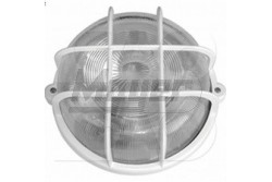 Hajólámpa 100W, kerek, fehérm műanyag rács GAO-6927H  DW-90095