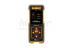 """DeWALT Lézer, lézeres távolságmérő 100m-ig  DW03101  A lézeres távolságmér?t (Laser Distance Measurer, LDM) úgy tervezték, hogy ellenálljon az elkerülhetetlen munkahelyi sérüléseknek, ütéseknek Hatótávolsága 50 m, az eltérés ezen a távolságon belül nem több +/- 1,5mm-nél """"Egy gomb-egy funkció"""". A készüléken lehetséges méterben, négyzetméterben és köbméterben m?veleteket végezni. Összeadás, kivonás végezhet? vele, valamint méterben és inch-ben is mér. Pythagoras indirekt magasság funkció lehet?vé teszi, a távolságok mérését akkor is, ha az A és / vagy B pont nem alkalmas lineáris mérésre A készülék alkalmas az utolsó 5 mérés tárolására. AAA Alkáli elemekkel, csuklópánttal és vízszintes övtartóval kerül forgalomba"""