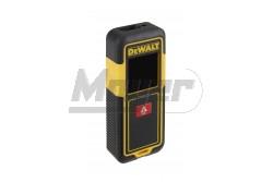 DeWALT lézeres távolságmérő 30m-ig  DW033-XJ  DeWALT lézeres távolságmérő 30m-ig Tulajdonságok: Kompakt, könnyű, egy gombos használat Csúszásgátlóval ellátva Fekete kijelző fehér betűkkel Lézer osztály: 2 Mérési pontosság: +/-3mm / 10m Lézersugarak száma: 1 db Beltéri láthatóság: 0,15-30 m  Tápforrás: 2xAAA Súly (elem nélkül): 120 g