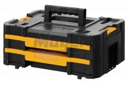 DeWALT TSTAK IV  - Szortimenter 2 fiókkal  440mm x 176mm x 314.2mm 8L-es  DWST1-70706