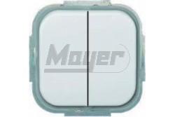 Prodax Classic IP44 dupla alternatív kapcsoló fehér sülly. P-PDK2106+6IP44FH  EEEP22141801100