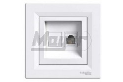 ASFORA 1xRJ11 telefon aljzat, fehér  EPH4100121