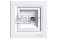 ASFORA 1xRJ45 Cat5e UTP aljzat, fehér  EPH4300121
