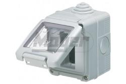 GEW 27041 vízmentes falon kívüli csapfedeles szerelvénydoboz 1modul IP55  GEW-27041