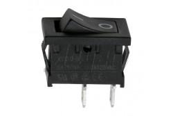 Kapcsoló billenő 6A 250V,0-1, 21x15mm, fekete  GL-09020