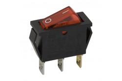 Kapcsoló billenő piros (off-on 1ák 16A-250V)  GL-09050PI