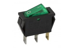 Kapcsoló billenő zöld (off-on 1ák 16A-250V)  GL-09050ZO
