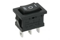 Kapcsoló billenő 10A 250V 1-0-2 átkapcsoló fekete 09084  GL-09084