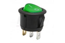 Kapcsoló billenő zöld (on-off 6A-250V)  GL-09085GR