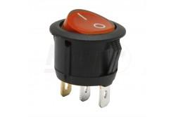 Kapcsoló billenő piros (on-off 6A-250V)  GL-09085RD