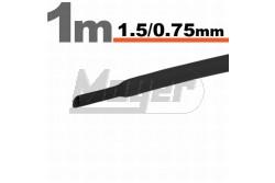 Zsugorcső 1,5-0,75 fekete   GL-11019F