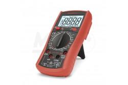 """Digítális multiméter Maxwell 25201TRUE RMS  GL-25201  Általános multiméter, hőmérséklet és kapacitásmérő funkcióval kiegészítve, jelalak független """"True RMS"""" méréssel. Az egyik legjobb ár-érték arányú műszer a palettán. Kijelző:4 digites DC V:0,1 mV - 1000 V AC V:1 mV - 750 V DC A:0,1 µA - 20 A AC A:10 µA -20 A Ellenállás:0,1 ? - 20 M? Kapacitás:10 pF - 2000 µF Hőmérséklet:-40°C - +1000°C Méret:190 x 90 x 40 mm Tranzisztor teszt hFE Dióda teszt True RMS Folytonossági teszt Hangjelzés Automata kikapcsolás Adattartás Tartozékok: Műszerzsinór, Hőmérő szonda, elem (1 x 9V IEC 6F22)"""