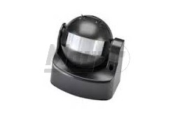 Mozgásérzékelő 180fok-os fekete IP44  GTV-CR-CR1000-10  - Oldalfali mozgásérzékelő - IP44 - Teljesítmény: max.:1200W - Látószög: 180fok - Feszültség: 230V AC - Működési tartomány: 10m +-2m - Színe: fekete