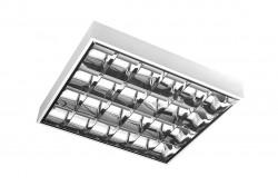 Armatúra LED fénycsőhöz,G-TECH,tükrös 4x60cm T8, G13, IP20, AC220-240V, 50/60Hz, fehér falon kív.  GTV-GT-LE060JN-01  Armatúra LED fénycsőhöz,G-TECH,tükrös 4x60cm T8, G13, IP20, AC220-240V, 50/60Hz, fehér falon kív. Tükrös armatúra LED fénycsőhöz Dupla parabola tükör 4x9W (4xT8 60cm megfelelője) Méret: 4x60 cm Feszültség: 220-240V/AC IP védelem: IP20 fehér színű Falon kívüli